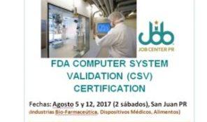 FDA Computer System Certification
