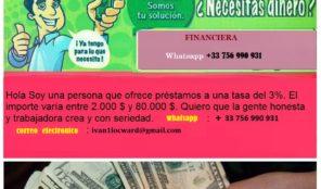 Ofertas de préstamos y apoyo financiero