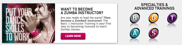 Become a Zumba Fitness Instructor!